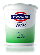 Add protein-rich FAGE Total Plain Greek yogurt to your favorite recipes. It's a simple and delicious way to enhance your dishes with the famously rich and creamy FAGE Total flavor.