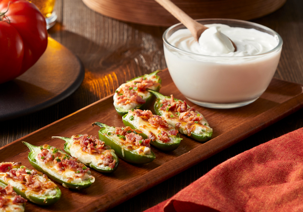 Sour Cream Jalapeno Poppers
