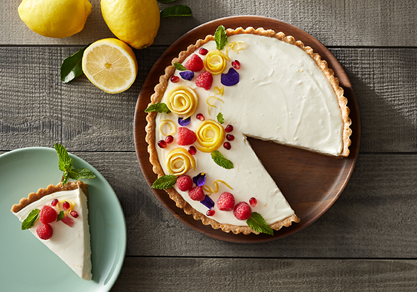No-Bake Sour Cream Lemon Cheesecake