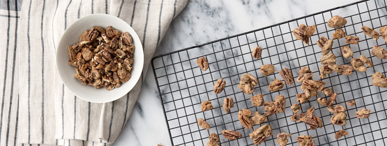 Spiced Candied Pecans served with FAGE Total