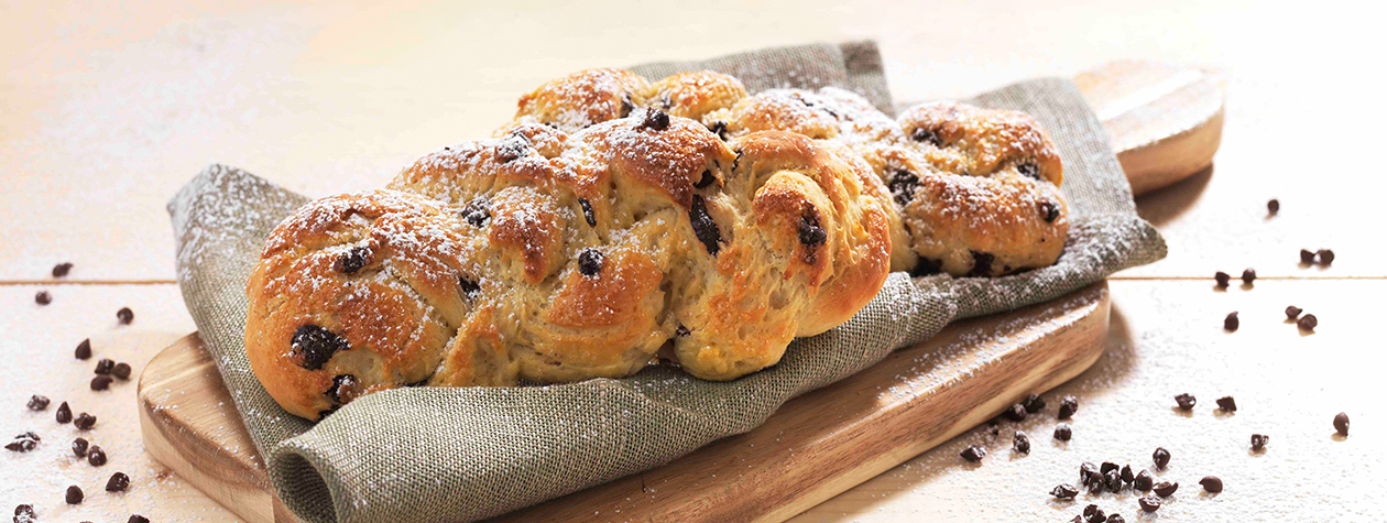 Chocolate Chip Braided Bread with FAGE Total
