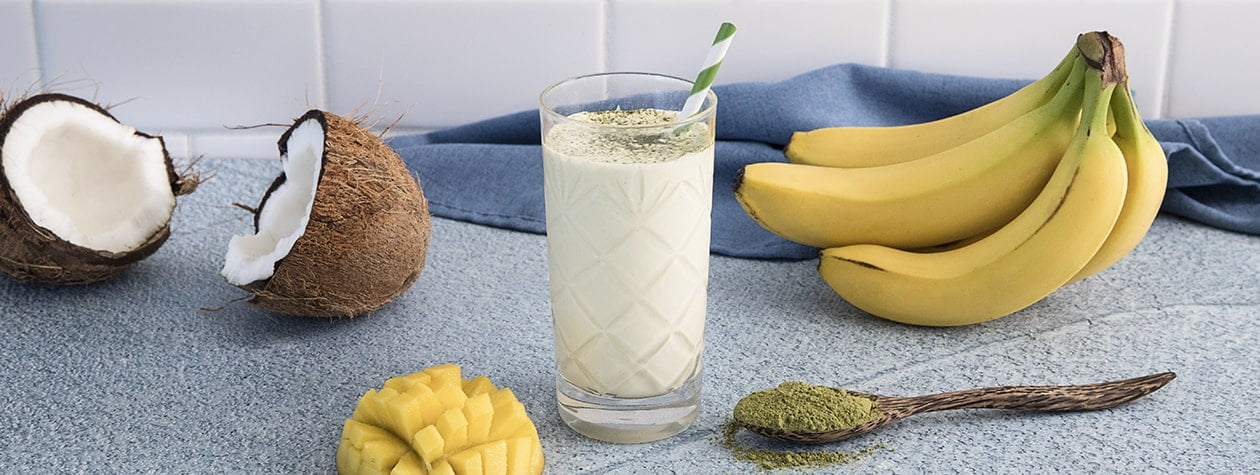 Coconut Matcha Smoothie with FAGE Total