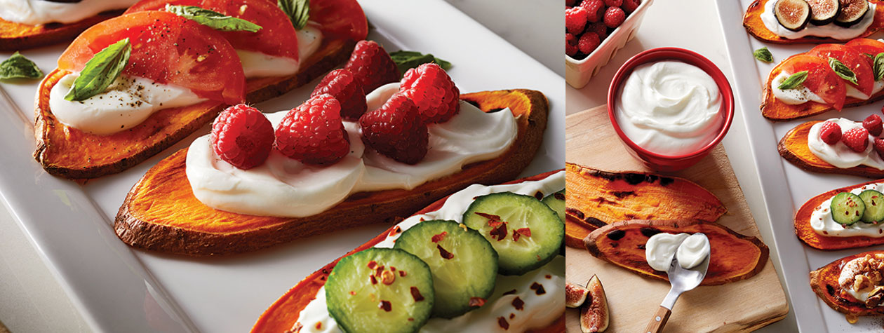 Sweet Potato Toast with FAGE Total