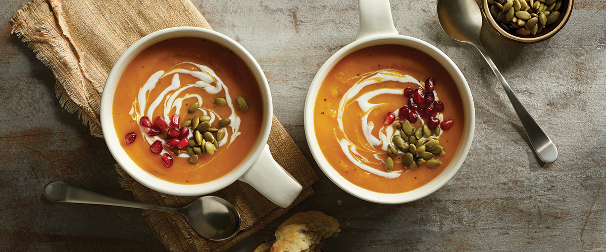 Butternut Squash Soup with Yogurt Drizzle