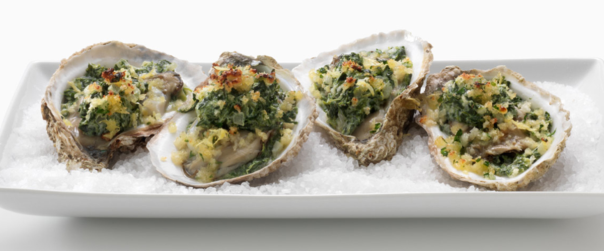 Oysters Rockefeller with FAGE Total