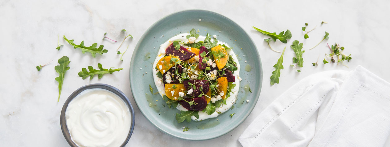 Roasted Beet and Greek Yogurt Salad