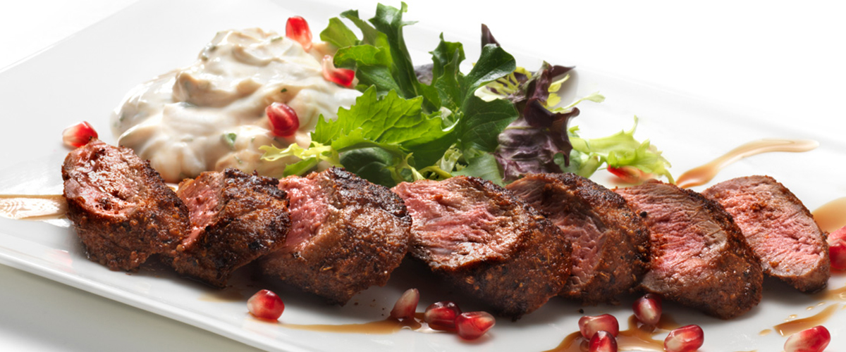 Spice-Crusted Lamb Tenderloin with FAGE Total