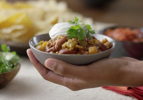 Everyday Chili with FAGE Sour Cream