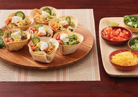 Individual Taco Cups with FAGE Sour Cream